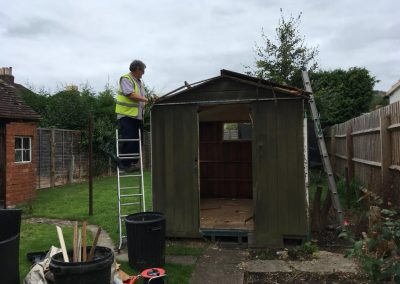 professional shed demolition and green house demolition from Crown Clearance in Cheltenaham