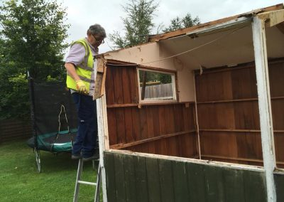 Shed demolition and green house demolition from Crown Clearance Cheltenaham